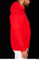 Dave arm dressed red hoodie upper body 0006.jpg