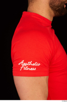 Dave arm dressed red t shirt shoulder upper body 0002.jpg