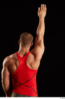 Dave  1 arm back view dressed flexing red tank top 0005.jpg