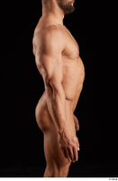 Dave  1 arm flexing nude side view 0001.jpg