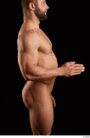 Dave  1 arm flexing nude side view 0003.jpg