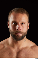 Dave  2 bearded flexing front view head 0003.jpg