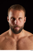 Dave  2 bearded flexing front view head 0010.jpg