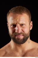 Dave  2 bearded disgust emotion front view head 0001.jpg