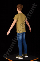 Matthew blue jeans brown t shirt casual dressed green sneakers standing whole body 0012.jpg