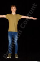 Matthew blue jeans brown t shirt casual dressed green sneakers standing t poses whole body 0001.jpg