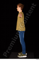 Matthew blue jeans brown t shirt casual dressed green sneakers standing t poses whole body 0003.jpg