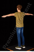 Matthew blue jeans brown t shirt casual dressed green sneakers standing t poses whole body 0004.jpg