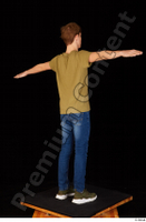 Matthew blue jeans brown t shirt casual dressed green sneakers standing t poses whole body 0006.jpg