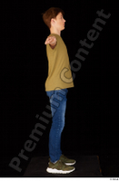 Matthew blue jeans brown t shirt casual dressed green sneakers standing t poses whole body 0007.jpg