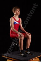 Matthew  1 dressed greece wrestling shoes greece wrestling singlet sitting whole body 0006.jpg