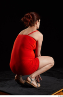 Charity 2  1 dressed kneeling red dress silver sandals whole body 0006.jpg
