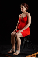 Charity 2  1 dressed red dress silver sandals sitting whole body 0008.jpg