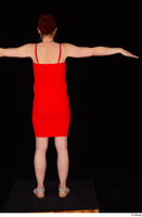 Charity 2 casual dressed red dress silver sandals standing t poses whole body 0005.jpg
