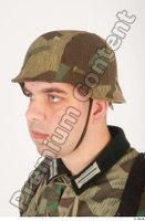 German army uniform World War II. ver.4 army camo head helmet 0002.jpg