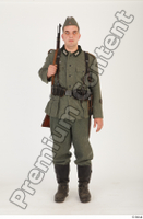 German army uniform World War II. ver.1 - poses army soldier standing whole body 0001.jpg