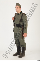 German army uniform World War II. ver.1 - poses army soldier standing whole body 0002.jpg