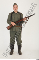 German army uniform World War II. ver.1 - poses army soldier standing whole body 0017.jpg
