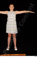 Ruby ballerina flats dress dressed standing t poses whole body 0001.jpg