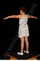 Ruby ballerina flats dress dressed standing t poses whole body 0004.jpg