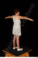 Ruby ballerina flats dress dressed standing t poses whole body 0006.jpg