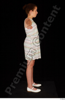 Ruby ballerina flats dress dressed standing t poses whole body 0007.jpg