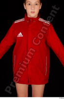 Ruby dressed red sports jacket upper body 0001.jpg