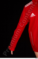 Ruby arm dressed red sports jacket upper body 0001.jpg