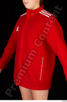 Ruby dressed red sports jacket upper body 0002.jpg