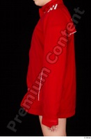 Ruby arm dressed red sports jacket upper body 0003.jpg