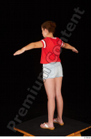 Ruby dressed flip flop jeans shorts red t shirt standing t poses whole body 0004.jpg