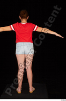 Ruby dressed flip flop jeans shorts red t shirt standing t poses whole body 0005.jpg