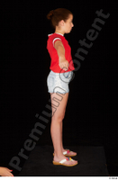 Ruby dressed flip flop jeans shorts red t shirt standing t poses whole body 0007.jpg