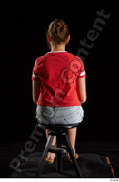 Ruby  1 dressed flip flop jeans shorts red t shirt sitting whole body 0003.jpg