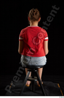 Ruby  1 dressed flip flop jeans shorts red t shirt sitting whole body 0011.jpg