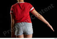 Ruby  1 arm back view dressed flexing red t shirt 0003.jpg