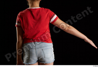 Ruby  1 arm back view dressed flexing red t shirt 0004.jpg