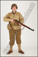 U.S.Army uniform World War II., ver.1 - poses