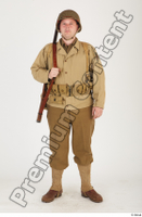 U.S.Army uniform World War II. ver.2 army poses with gun soldier standing whole body 0001.jpg