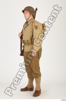 U.S.Army uniform World War II. ver.2 army poses with gun soldier standing whole body 0002.jpg