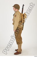U.S.Army uniform World War II. ver.2 army poses with gun soldier standing whole body 0003.jpg