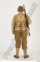 U.S.Army uniform World War II. ver.2 army poses with gun soldier standing whole body 0005.jpg