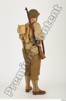 U.S.Army uniform World War II. ver.2 army poses with gun soldier standing whole body 0006.jpg