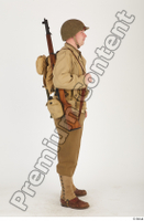 U.S.Army uniform World War II. ver.2 army poses with gun soldier standing whole body 0007.jpg