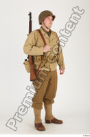 U.S.Army uniform World War II. ver.2 army poses with gun soldier standing whole body 0008.jpg