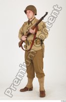 U.S.Army uniform World War II. ver.2 army poses with gun soldier standing whole body 0010.jpg