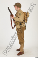 U.S.Army uniform World War II. ver.2 army poses with gun soldier standing whole body 0011.jpg