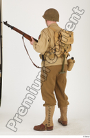 U.S.Army uniform World War II. ver.2 army poses with gun soldier standing whole body 0012.jpg