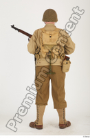 U.S.Army uniform World War II. ver.2 army poses with gun soldier standing whole body 0013.jpg