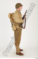 U.S.Army uniform World War II. ver.2 army poses with gun soldier standing whole body 0015.jpg
